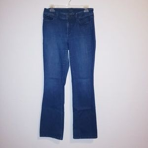 Ann Taylor The Boot Curvy Fit Dark Jeans Size 6